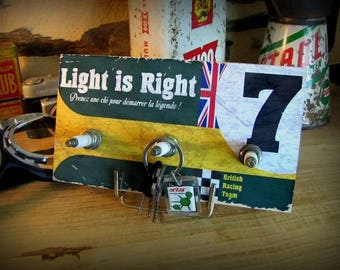 """key hook wall lotus """"light is right"""" by deco cars 3 candles"""