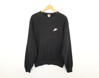 Nike Small Logo Spellout Vintage Embroidery Pullover Jumper Sweatshirt