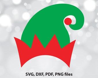Elf hat SVG File, Elf hat DXF, Elf hat Cut File, Elf hat clip art, Elf hat PNG, Elf hat Cricut, Elf hat Cameo File, Elf hat Silhouette,