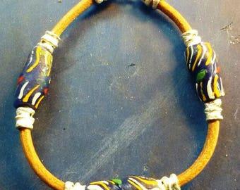 African sand cast beads bracelet