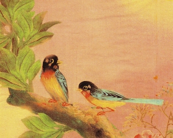 SMALL birds EXOTIC towel 009 paper