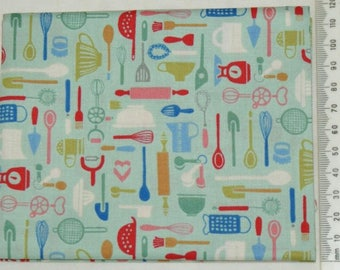 Fabric - Retro Bake 02 - Makower kitchen vintage