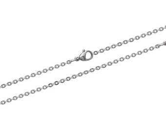 Steel thickness 2 mm length 45 or 50 or 55 cm trace chain