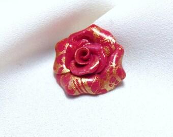 Cabochon Pearl * lace print * N ° 1