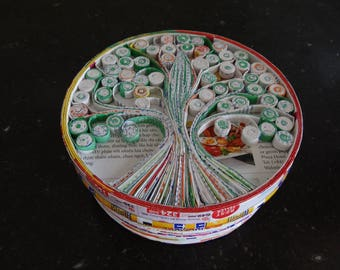 Recycled paper Tree of Life box