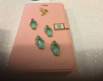 Blinged out handmade iPhone 6 ,flip case, flip flops style