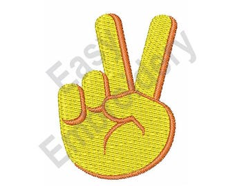 Victory, peace hand sign - Machine Embroidery Design