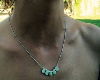 Necklace chain Silver 925 sheet amazonite