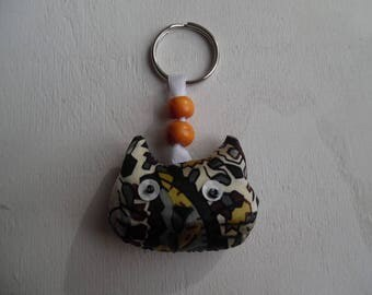 fabric cat key ring