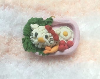 Kawaii Kitty Pink Bento Box Lunch Box Pastel Food Charm