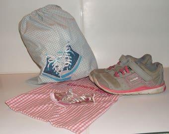 Bag cotton school shoes