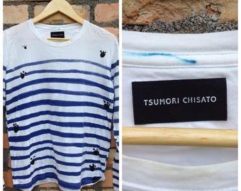 Sale Rare Designer Tsumori chisato Long sleeve Shirt Printed Both side