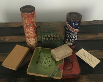 Mixed vintage tins