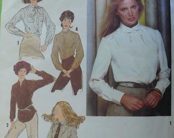 Women's Shirt, Blouse Pattern, Vintage Simplicity 9138, Size 12 - 1970s