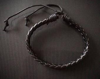 Leather bracelets, adjustable