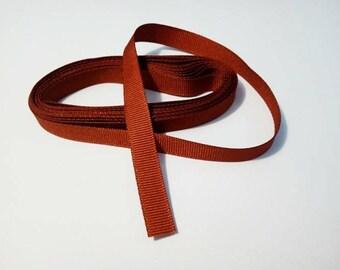 Beautiful ribbon grosgrain, red brick, 10 mm