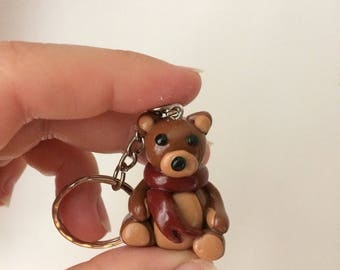 Kawaii Teddy Bear Keychain Keyring