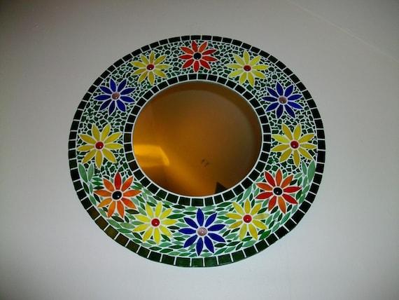 Articles similaires miroir mosa que de verre fleurs for Miroir en mosaique