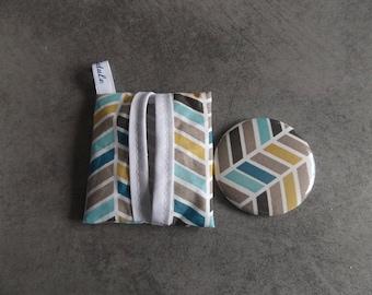 1 fabric Pocket mirror