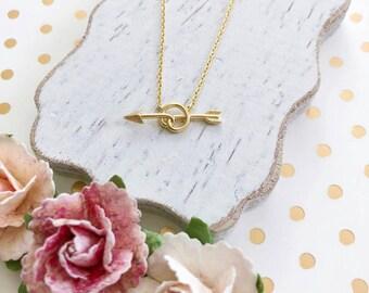Gold Arrow Dainty Necklace