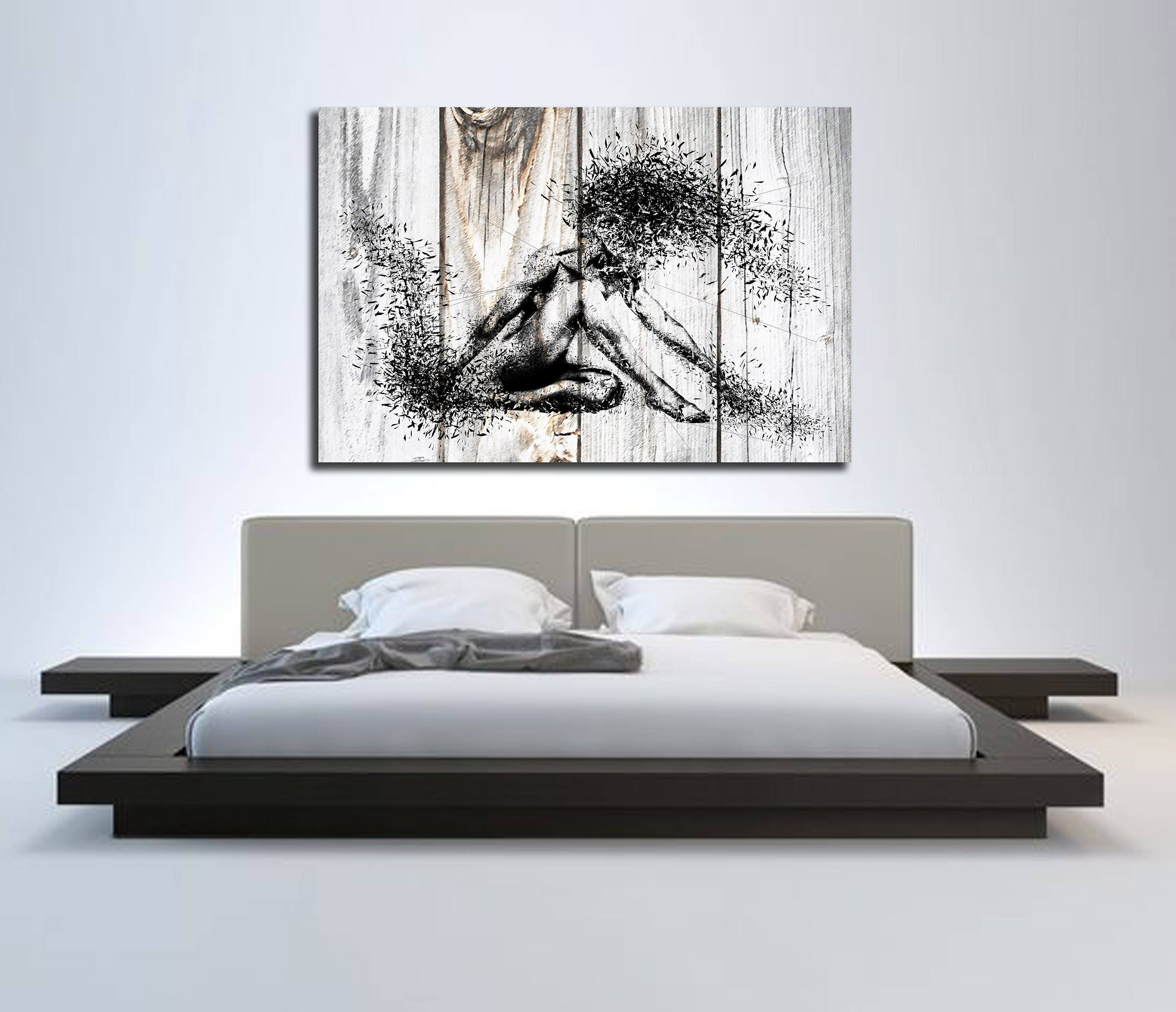 Canvas art sensual bedroom wall decor minimalist abstract - Sensual paintings for the bedroom ...