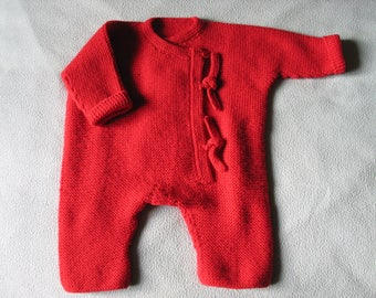 Combination red baby 6 months onesie