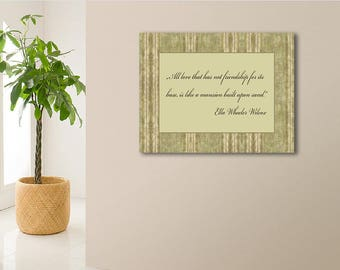 A meaningful present to a person who cares for you. Personalized picture with the most beautiful words on the canvas.