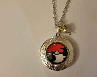 Handmade Ash and Pikachu Locket Necklace and Charm