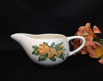 Creamer - Yellow Tiger Lily Pattern by Paden City Pottery