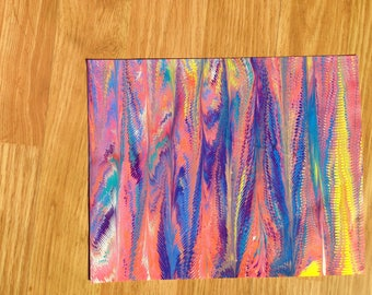 Tropical Colors Marbled Paper (small)