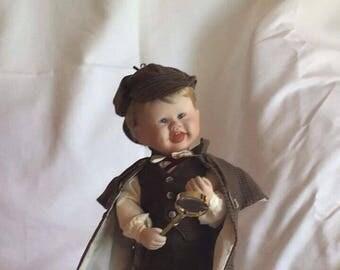 """Knowles """"Little Sherlock"""" Porcelain Doll"""