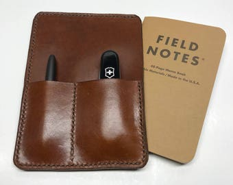 Field Notes - Field Notes Wallet - Field Notes Cover - Journal - Leather Wallet - wallet - Mens - Gifts for him - Groomsmen - edc leather