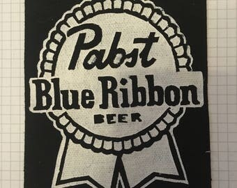 PBR Pabst Blue Ribbon Canvas Patch