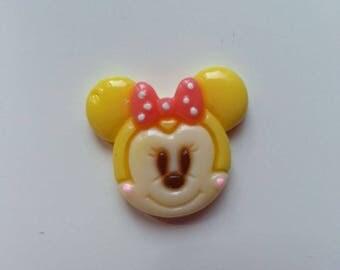 embellissement réisne tête de souris minni  jaune 22*20mm