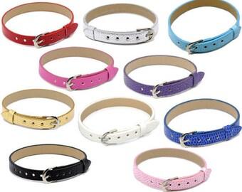 1 bracelet simili cuir de couleur violet