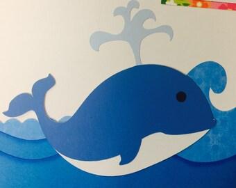 Whale Paper Die Cut