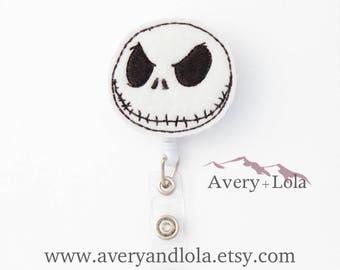 Jack Skellington Badge Reel, Halloween Badge Reel, Nightmare Badge Reel, ID Badge Holder, Teacher Gift, Nurse Gift