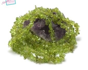 """84 cm approx 440 thread """"chips"""", natural gemstone peridot beads"""