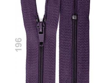 Purple nylon closure size 15 cm