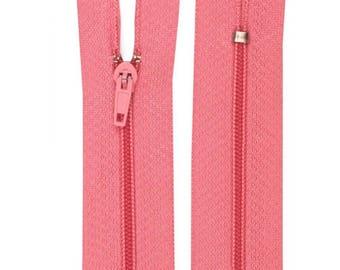 Pink nylon closure size 10 cm