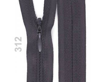 dark gray invisible zipper 22 cm