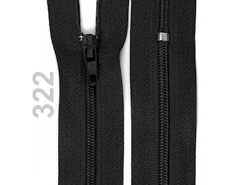 black nylon closure size 18 cm