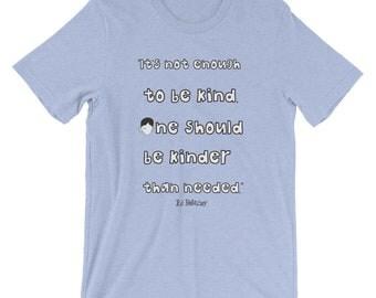 Kindness Wonder Book quote T-Shirt kinder choose kind teacher gift wonder movie rj palacio anti bullying reading were all wonders