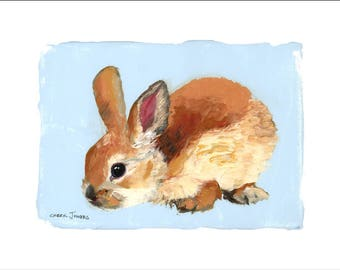 "Emmy's Bunnies Daisy, 10x8"" Fine Art Print, Limited Edition, Hand Numbered and Signed, Giclee, Nursery Art"