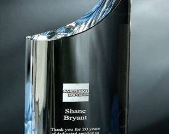 Crystal Mezzo Engraved Recognition Award