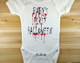 Baby First Halloween Onesie, Halloween Onesie, Halloween Bodysuit, Cute Onesie, Halloween Baby, Halloween Outfit, Baby Halloween, Halloween