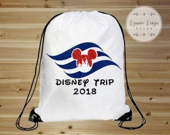 Disney Bag, Disney Cruise Bag, Drawstring Bag, Mickey Mouse Backpack, Disney Vacation Bag, Drawstring Backpack, Disney Tote, Disney Park Bag