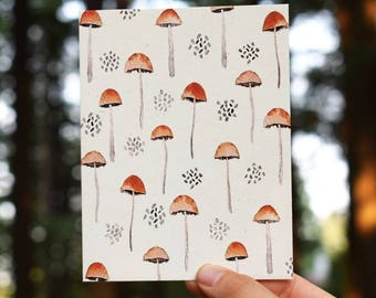 Mushroom Watercolor Greeting card by Terrene Studio