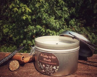 Soy candle cinnamon nutmeg scented - grandmas house - all natural vegan gifts