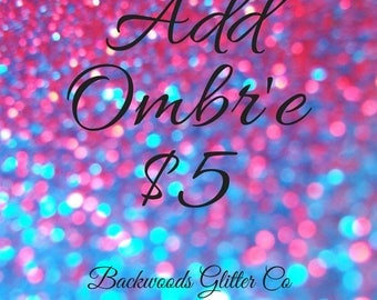 Add Ombre To ANY Tumbler! Just 5.00! Glitter Dipped Tumbler, Add On, Any Size